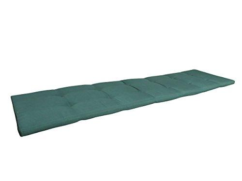 Balke Luxus 4-Sitzer Bankauflage 'Rips Grün 180', ca. 180x45 cm, uni grün strukturiert
