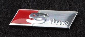 Moozal S-Line volante distintivo adesivo adesivo per Audi A3 A4 A6 Q3 Q5 Q7 (argento) (1)