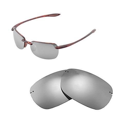 Walleva Ersatzgläser für Maui Jim Sandy Beach Sonnenbrille - Mehrfache Optionen (Titanium Mirror Coated - Polarisiert)