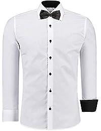 J S FASHION Herren-Hemd – Slim-Fit – Bügelleicht – Für Anzug, Business,  Hochzeit, Freizeit – Langarm-Hemd für… 2912d92e1b