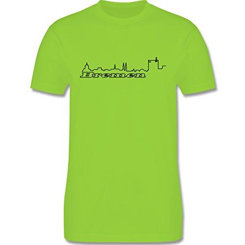 Skyline - Bremen Skyline - Herren Premium T-Shirt Hellgrün