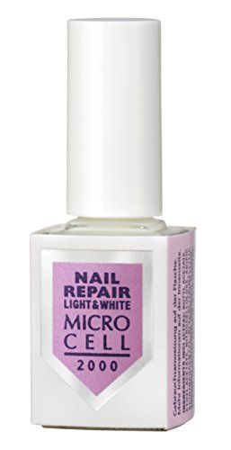 Micro Cell Nail Repair Light and White Nagellack zur Nagelreparatur,12 ml - Polnische Nail-strengthener