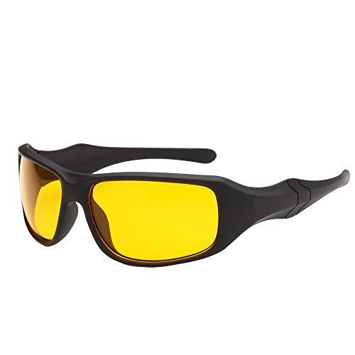 WYJW Nachtsichtbrille Elastic Paint Rechteckige Sonnenbrille Rechteckige Sonnenbrille mit schwarzem Gestell