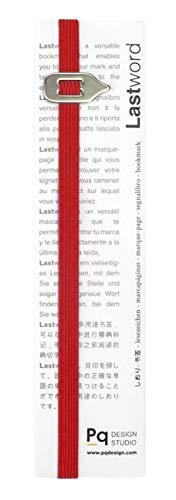 Lastword lesezeichen, bookmarks - lesezeichen kinder - geschenk für frauen, geschenk für männer, geschenk für freundin - elastisches Lesezeichen für alle Bücher - MADE IN ITALY (Rot)