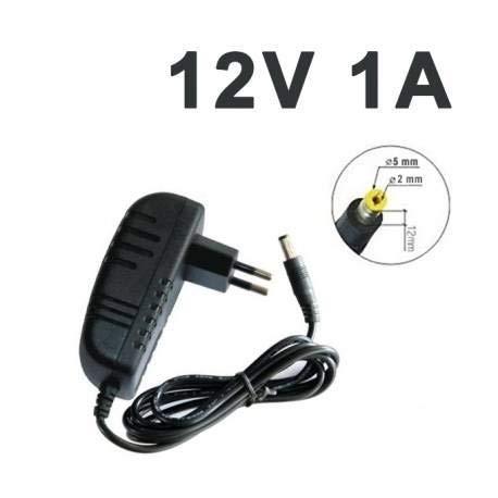 Universal Netzteil Laptop Ladegerät - Laptops Notebook für Universal { 12V 1A } für ⚡ [LED-Streifen,Überwachungs Kamera, Tablette, Stromversorgungen]- Schwarz - Fiche= Ø 5,5 mm × Ø 2 mm