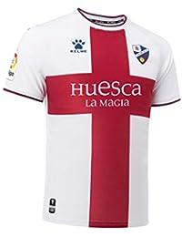 KELME SD Huesca Segunda Equipación 2018-2019, Camiseta, Blanco-Granate, Talla
