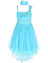 Sin mangas Vestido tul vestido de fiesta para niña vestido de madrina vestido de ahijada para
