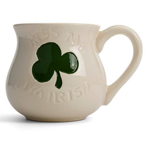 Milltown Merchants Milltown (Händler TM Kiss Me I 'm Irish Tasse-Keramik St. Patrick 's Day Kaffee Tassen,-Glück der Irish Coffee Tasse Becher Irish Coffee Becher