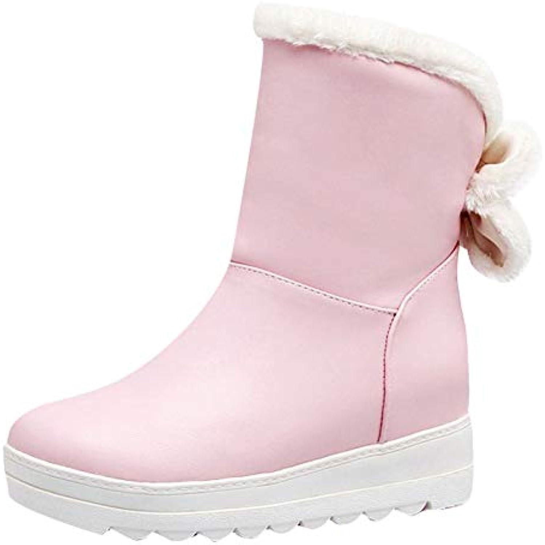8455d10685f7 Mee Shoes Women s Warm Platform Bow Upper Short Boots Boots Boots  B07GXLN329 Parent c16daf