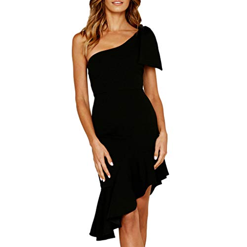 Vestito Pizzo Donna Elegante LianMengMVP Mode Irregolare Bodycon Abito  Senza Spalline da Sera Vestiti Sirena Cerimonia 9e11c6ee7f1