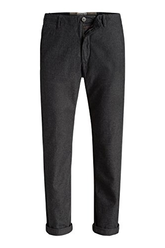 ESPRIT Chino - Pantalon - Tapered - Homme Gris (anthracite 010)