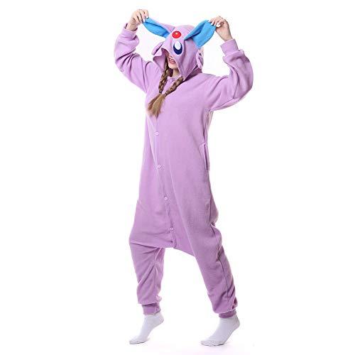 HLDUYIN Erwachsene Onesie Cosplay Kostüm Nachtwäsche 3D Tier All In One Jumpsuit Geeignet Home Party Neuheit Sleepsuit Nachtwäsche - Alle Pokemon Kostüm