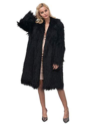 Huixin cappotto di pelliccia donna lunga invernali addensare caldo eleganti outerwear pelliccia sintetica fashion manica lunga prodotto plus costume giacca di pelliccia giaccone parka invernale