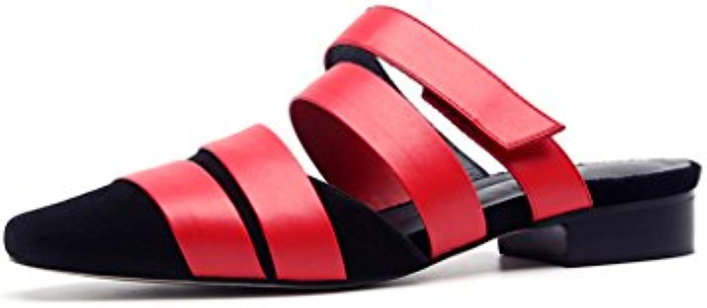 JIANXIN Baotou Baotou Baotou Roma Scarpe Infradito Sandali di Cuoio Femminile All'aperto Pantofole Fuori Mezza Pantofola Usura... | Economico  | Maschio/Ragazze Scarpa  9e096c