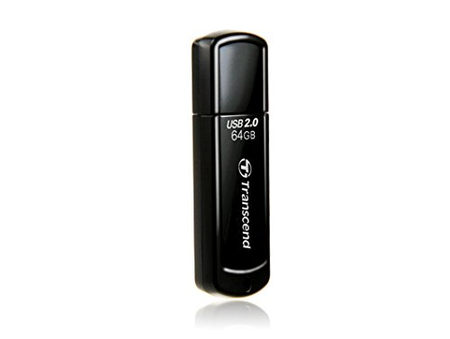 Transcend JetFlash 350 USB 2.0 64GB Pen Drive (Black)