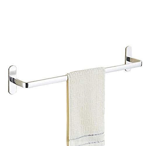 LiTingDz Punch-Free Handtuchhalter Badezimmer Badezimmer Space Aluminium verbreitert Licht Single Pole Doppel-Pole Handtuch Hanging Nail Handtuch 60cm -