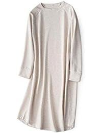 Mmllse Vestido Casual Cuello Redondo Pijamas De Punto Sueltos Cómodos ...