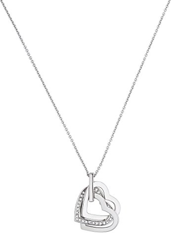 JETTE Silver Damen-Collier Moments of love 925er Silber rhodiniert 30 Kristall One Size, silber