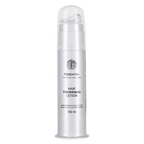 Fidentia Hair Thickening Lotion | Haarverdichtungslotion für eine kosmetische, optische Verdichtung bei lichtem, dünnem Haar | Föhn-Gel mit Schütthaar (schwarz) -