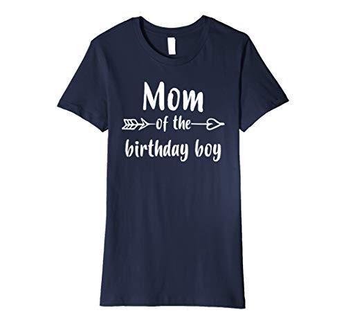 Damen Frauen S MOM Of Birthday Boy Shirt Mom Geschenk