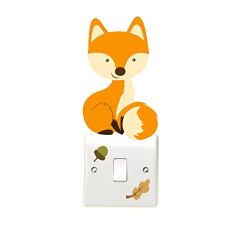 woodland-fox-with-acorn-leaf-light-switch-wall-sticker-childrens-bedroom-playroom-fun-adhesive-vinyl