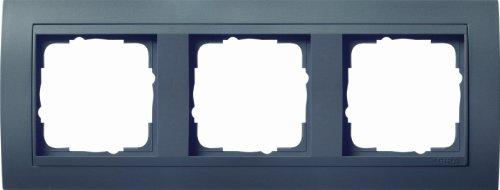 Preisvergleich Produktbild Gira 021308 Abdeckrahmen 3-fach Event mit Zwischenrahmen, anthrazit