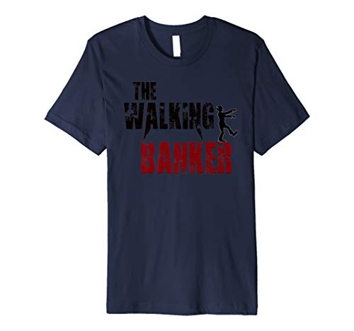 Banker Geschenk T-Shirts, Walking Banking Zombie Bank -