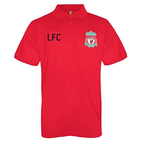 17a3f8490a4e3 Liverpool FC - Polo oficial para hombre - Con el escudo del club - Rojo -