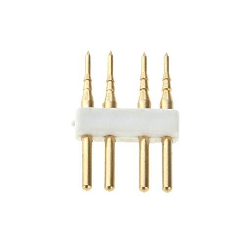 TONGTAIRUI-Accessory Lampenzubehör 50 STÜCKE 220 V LED RGB Streifen 4 Pin Nadel Stecker für LED 5050 RGB Flexible Streifen -