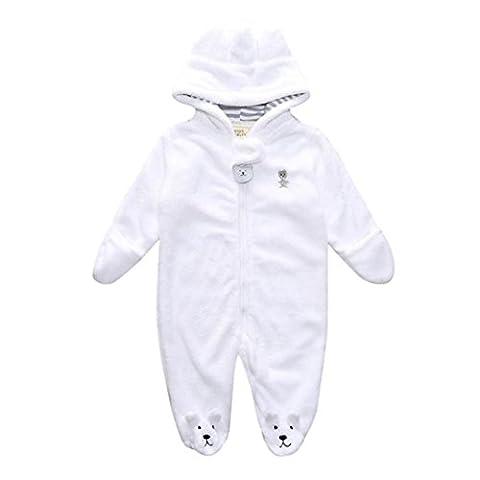 babykleidung Hirolan Neugeboren Kapuzenpullover Pyjama Baby Spielanzug Säugling Junge Mädchen Bär Lange Hülse Overall Herbst Winter Plüsch Kleider 0-9 Monate (3Monate, (Bären-kostüm Für Baby)