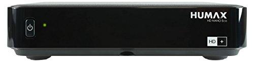 HUMAX Digital HD-Nano Eco Satelliten-Receiver (HDTV, USB, PVR-Funktion, geringer Stromverbrauch, inkl. HD+ Karte für 6 Monate) Schwarz