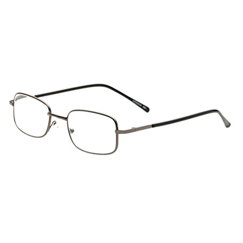 nisex Men and Women Reading Glasses Eye Brille +1.00-+4.00 Square Frame ()