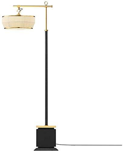 GBX Wohnzimmer, Hotel, Schlafzimmer, Stehlampen Chinesische Klassische Kupferne Stehende Lampe Mit Gewebe-Trommel-Farbton Für Schlafzimmerwohnzimmer-Antikorrosions-Vertikale Stehlampe