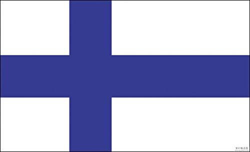 Queenshiny Países de las banderas nacionales 90 x 150 cm (Finlandia)