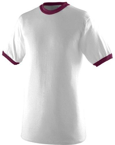Augusta Herren T-Shirt Weiß / Kastanienbraun