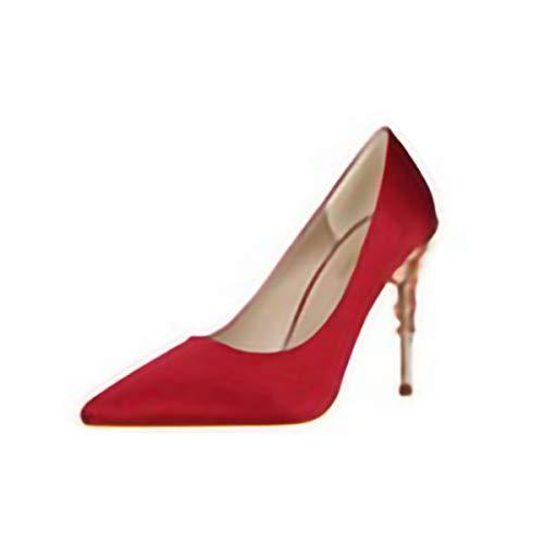 GSHGA SandalenMode Europa und Amerika professionelle einzelne Schuhe Super High Heel Damenschuhe Stiletto Spitzen Schuhen <br> (Professionelle Kostüm Verkauf)