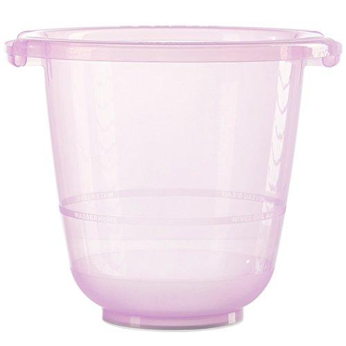 Bañera de cubo para bebés tummy tub: la original, con certificación TÜV, sin BPA, fucsia