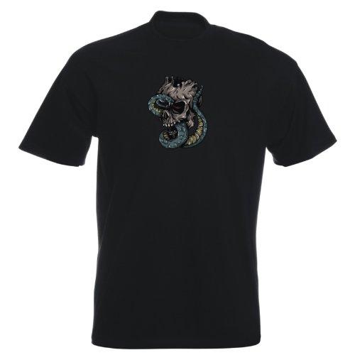 T-Shirt - Buddy Skull 35 - Totenkopf - Herren Schwarz