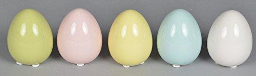 r-Deko Ei stehend Deko-Ei Keramik in 5 Farben Preis für 5 Stück (Stehend Ei)