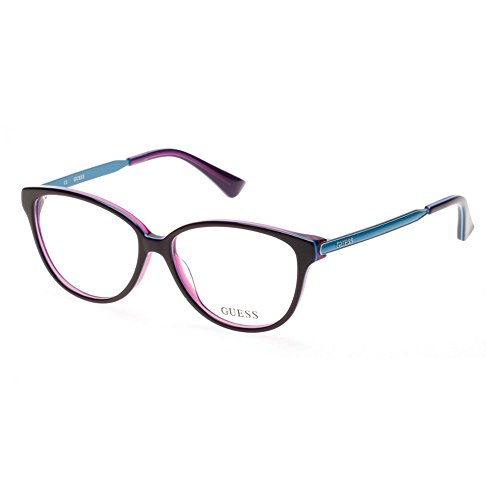 Guess - GU2488, Schmetterling, Acetat/Metall, Damenbrillen, PURPLE BLUE(081 D), 55/14/135