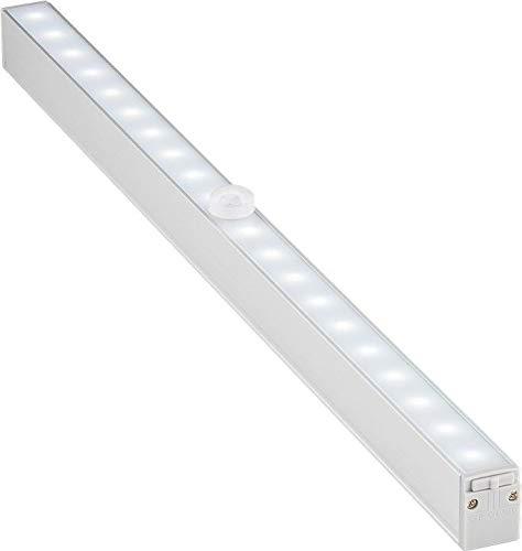 Goobay 55498 Spot LED encastrable avec détecteur de mouvement idéal pour armoires, cuisine, vitrines, tiroirs, couloirs et garages 80 lumens