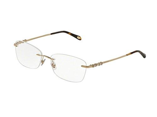 Tiffany & Co. Für Frau 1110hb Pearl Pale Gold Randloses Gestell Brillen, 55mm