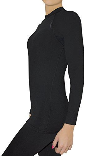 Gwinner chemise à manches longues sous-vêtements thermiques pour les Mesdame TOP I Noir