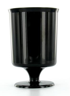 240 verres à pied plastique jetables noirs
