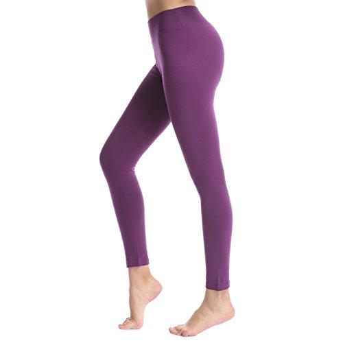 ABUSA Damen leggings Sport YOGA fitness Hosen Jogginghose M Lila