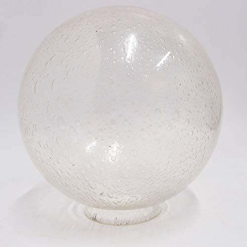 mm Glaskugel klar Hoflampe Ersatz Parklaterne Leuchte rund ()