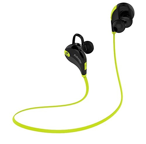 Roboster Aura Bluetooth 4.1 Lightweight Wireless Sports Headphones with Microphone for iPhone, iPad, Samsung and Android Smartphone - Assorted Color