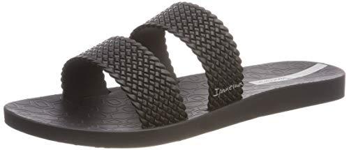 Geprägtes Leder-flip-flops (Ipanema Damen City FEM Pantoletten, Schwarz (Black/Black 8023), 39 EU)