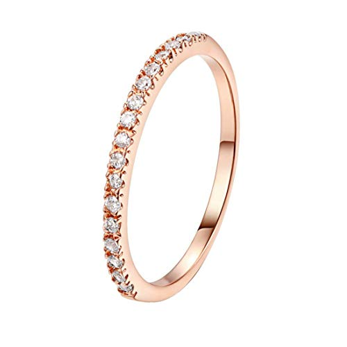 Einfacher Diamant Ehering aus hochwertigem Zirkon Ring YunYoud stahlringe billige Ringe holzringe doppelring trauring Filigrane