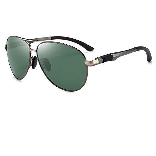 Sonnenbrillen für Männer/Polarisator für Mode/Fliegerbrillen/Unisex/Sonnenbrillen mit großem Rahmen/UV- und Blendschutz/Sonnenbrillen, Grün 1,146 * 66mm